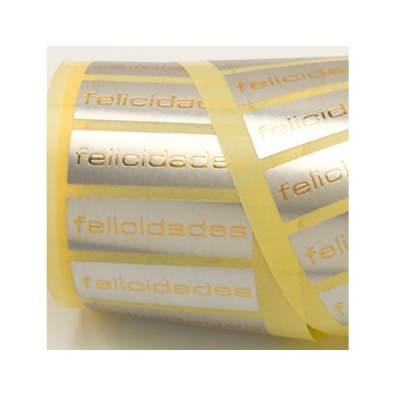 Etiquetas adhesivas castellano
